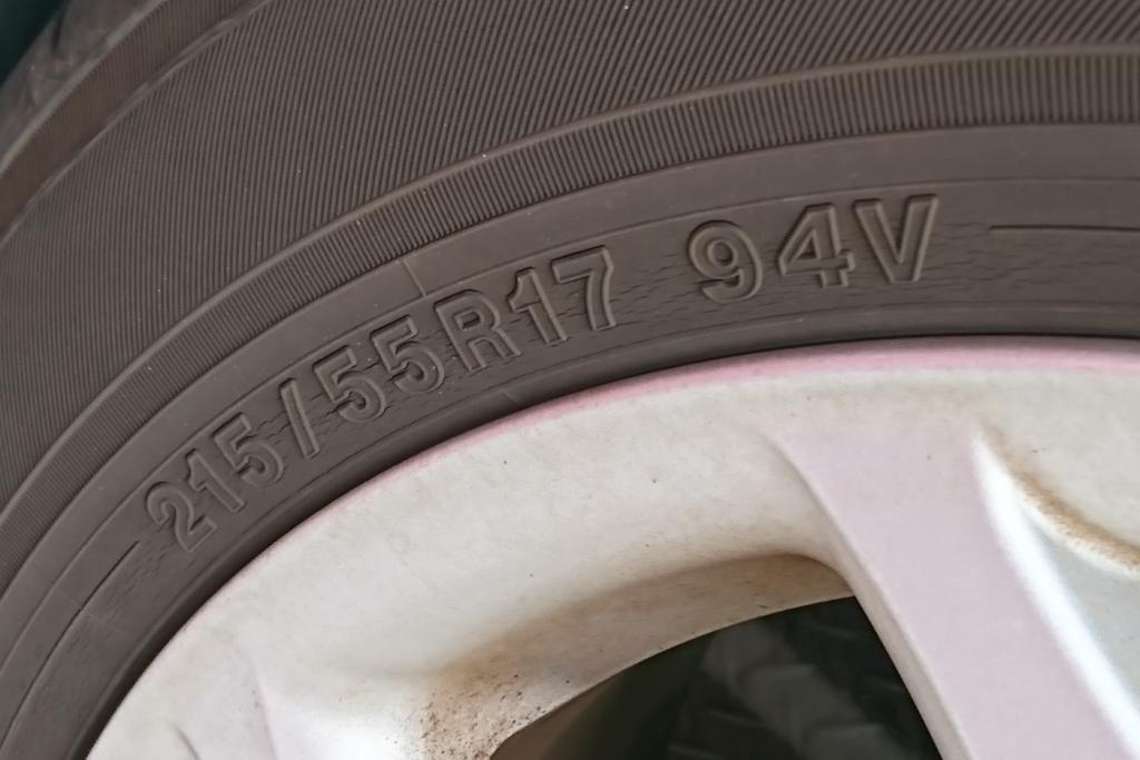 タイヤの型番